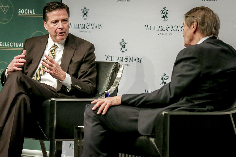 Fbi Director James Comey Jr  Ll D  Was Interviewed By Internationally Acclaimed Journalist Charlie Rose During Wm Weekend